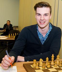 Robin Van Kampen joint winner of the FIDE Open