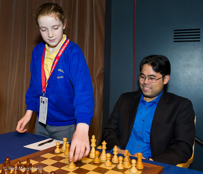 Hikaru Nakamura looks pleased with 1.e4, but retracted it and played 1. d4