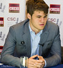 Magnus Carlsen in the Commentary Room