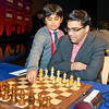 Vishy Anand's young assistant plays 1. e4 in his game against MIchael Adams