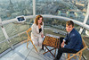 Judit Polgar and Magnus Carlsen high above the city in the London Eye