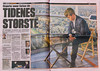 Norwegian newspaper VG features Magnus Carlsen in a double page spread, 4 December 2012