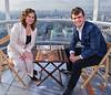 Judit Polgar and Magnus Carlsen in the London Eye