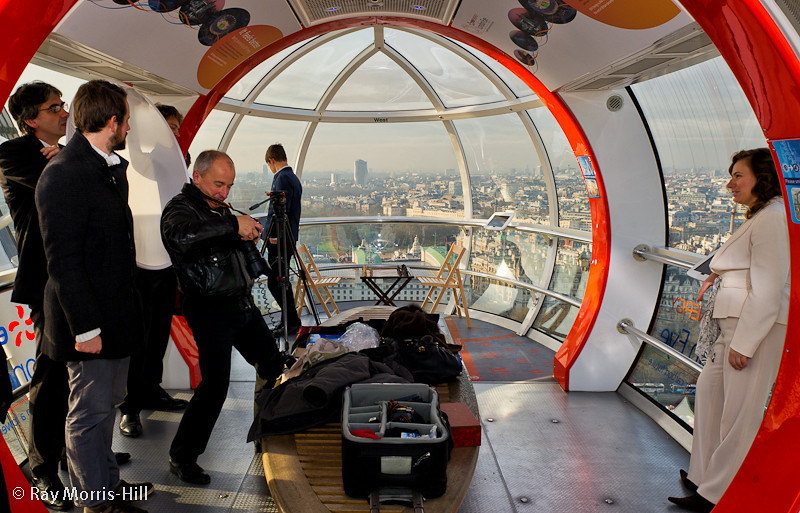 Behind the scenes in the London Eye
