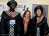 Judit Polgar with the Black King and Queen