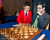 Viswanathan Anand gets help with 1. e4 at the start of Round 4
