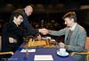 Round 5:  Albert Vasse starts the clock for Vladimir Kramnik and Luke McShane