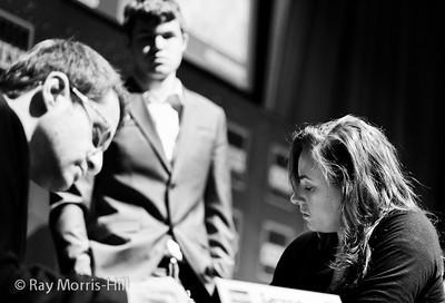 Judit Polgar vs Levon Aronian, Magnus Carlsen watches
