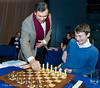 Dr J Bhagwati, High Commissioner of India to the United Kingdom, plays the first move for Luke McShane in his 1st Round match against Magnus Carlsen