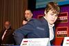 Round 1: Chief Arbiter Albert Vasse, Malcolm Pein and Magnus Carlsen