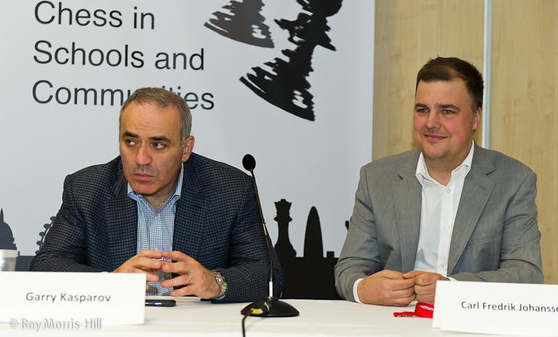 Garry Kasparov and Carl Fredrik Johansson