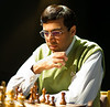 Vishy Anand at the start of his quarter-final match with Vladimir Kramnik
