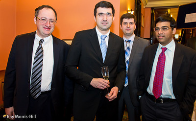 Boris Gelfand, Vladimir Kramnik, Peter Svidler and Vishy Anand