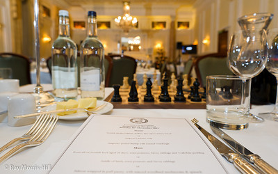 The tables are set for dinner... and chess