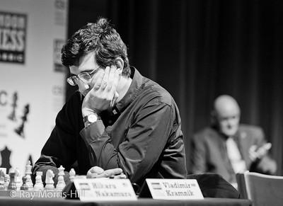 Vladimir Kramnik with Albert Vasse in the Background