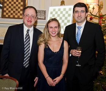 Boris Gelfand, Tereza Pribanova and Vladimir Kramnik