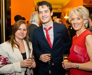 Judit Polgar, David Howell and Joanna Trollope