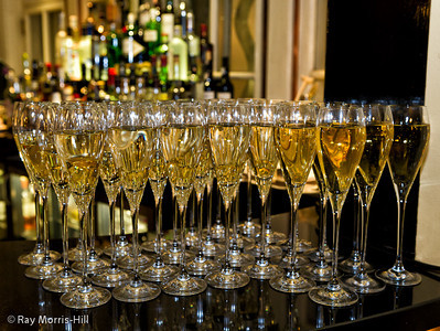 Champagne in the Knight's Bar