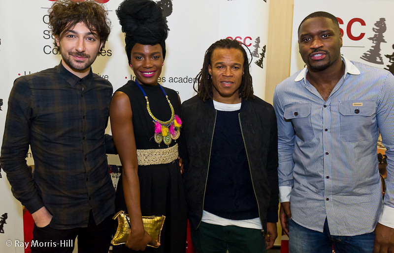 Alex Zane, Shingai Shoniwa, Edgar Davids and Lethal Bizzle