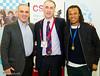 Garry Kasparov, Malcolm Pein and Edgar Davids