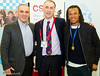 Garry Kasparov, Malcolm Pein and Edgar Davids