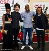 Alex Zane, Shingai Shoniwa,  Lethal Bizzle and Edgar Davids