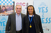 Garry Kasparov and Edgar Davids