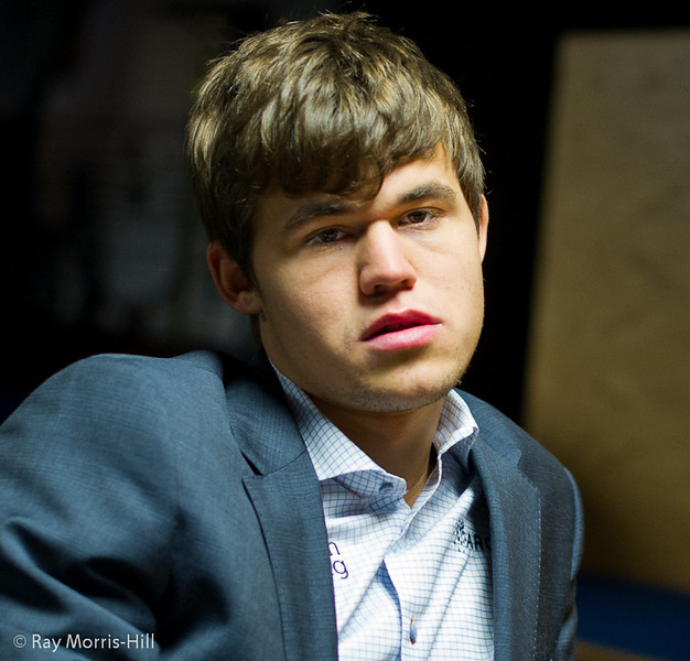 Magnus Carlsen at the start of Round 7