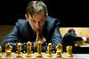 Round 4: Alexander Grischuk, with Boris Gelfand in the background