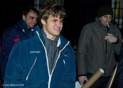 Magnus Carlsen and Alexander Grischuk