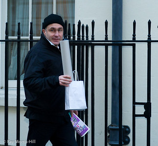 Vassily Ivanchuk leaving No. 11 Downing Street