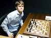 Magnus Carlsen at the start of Round 3