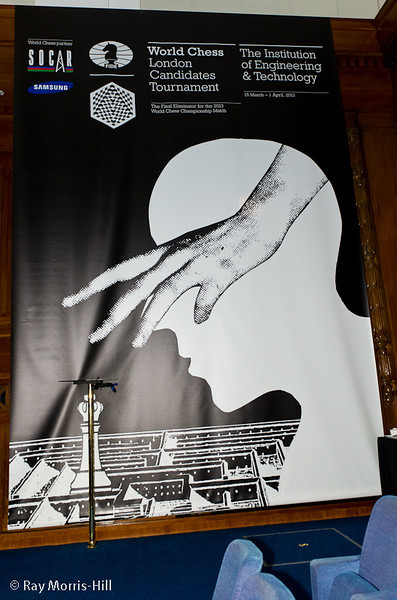 One of the giant posters advertising the event