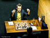 Levon Aronian prepares to play Vassily Ivanchuk in Round 10