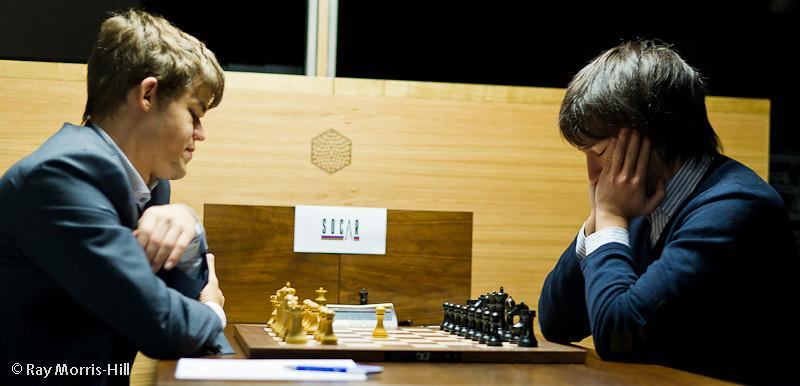 Round 7: Magnus Carlsen vs Teimour Radjabov
