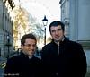 Levon Aronian and Vladimir Kramnik in Downing Street