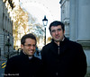 Levon Aronian and Vladimir Kramnik in Downing Street