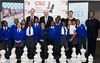 Boris Johnson with children from St Margaret's School, Barking