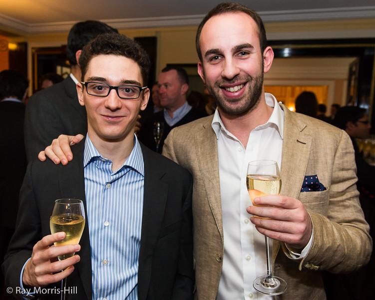 Fabiano Caruana and Lawrence Trent