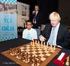 Mayor of London Boris Johnson opens the London Chess Classic