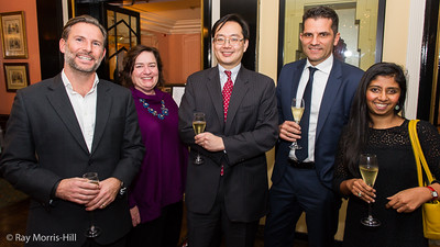 Dave Chan (centre) and the team from Barclaycard