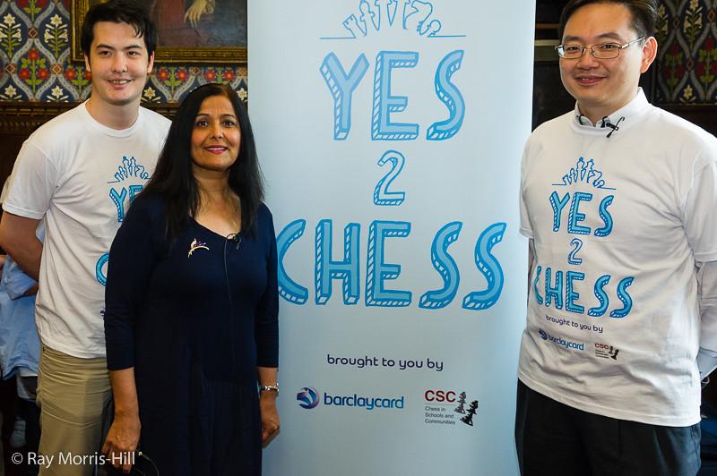 David Howell, Yasmin Qureshi MP and David Chan, Barclaycard