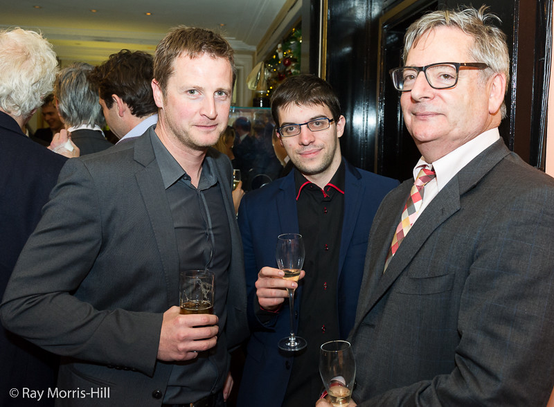 Jeremy Hodgson, Maxime Vachier-Lagrave and Dominic Lawson