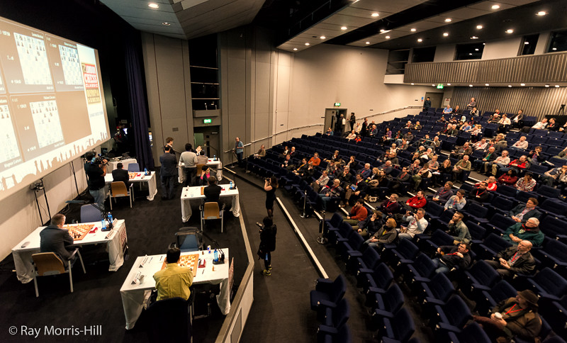 The playing auditorium at the start of Round 4