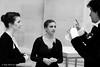 Jenny Logan, Rosy Nevard and Jason Kouchak prepare for the performance