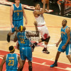 D. Rose blew by all 5 Hornets off the inbound for this layup (which I think he actually missed)