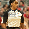 Ms. Violet Palmer, who became the first woman to officiate an NBA game back on April 25, 2006