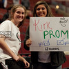 """Before the game, I asked this girl to pose for a photo.  It came out a little worse than I meant when I said: """"No, not you... the SIGN please!""""  We got a good laugh out of it"""