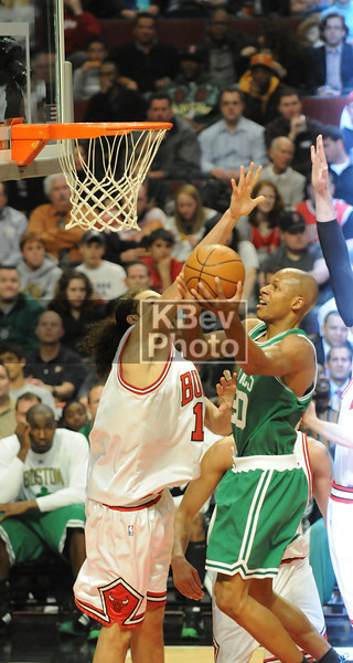 Ray Allen going up strong in traffic