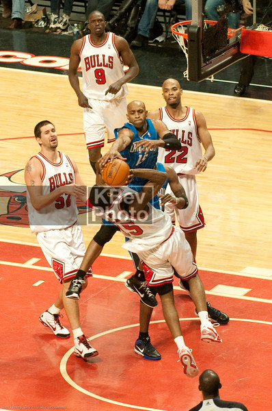 Dear John Salmons: If Vince Carter's arm is pointing downward *and still blocking your shot*, you didnt' get enough lift.